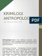 KRIMILOGI ANTROPOLOGIS