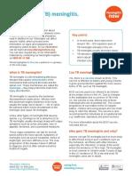 TB Meningitis Fact Sheet July 2016