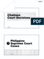 Advanced Legal Research - Citation Notes