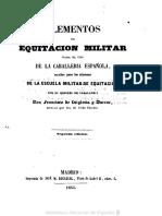 Elementos de Equitacion Militar Para El Uso de La Caballeria