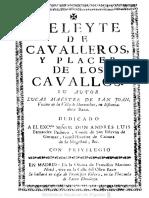 L MAESTRE Deleite de Caballeros y Placer de Los Caballos (1736)