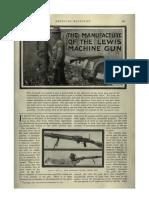 The Manufacture of the Lewis Machine Gun