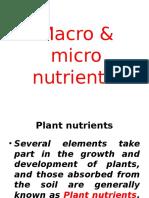 Micro Nutrients & Macro Nutrients