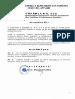 Consiliul UNBR Hotararea 525 Din 2001-09-2012 Adoptare Regul Examen AbsolvireINPPA-OK