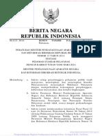 KepMenpan RB No. 15 Tahun 2014 Tentang Pedoman Standar Pelayanan (3 Hal)