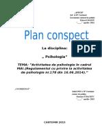 Regulamentul Cu Privire La Activitatea de Psihologie Nr.178 Din 16.06.2014