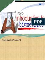 an introduction to biometrics