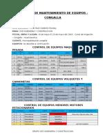 Informe de Mantenimiento de Equipos -Congalla