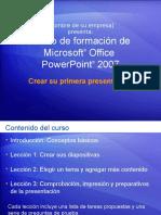 Curso de formación de Microsoft®OfficePRIMERPPT