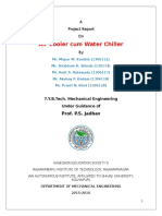 """Project report on """"Air cooler cum water chiller"""""""