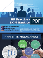 Presentation on HR Practice of EXIM Bank