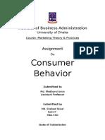 Assignment on Consumer Behavior