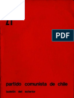 Boletín del Exterior del Partido Comunista de Chile Nº21