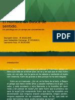 Exposicion- El Hombre en Busca de Sentido. v. Frankl.