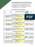 API Preperatory Training Shedules 28_November_2016