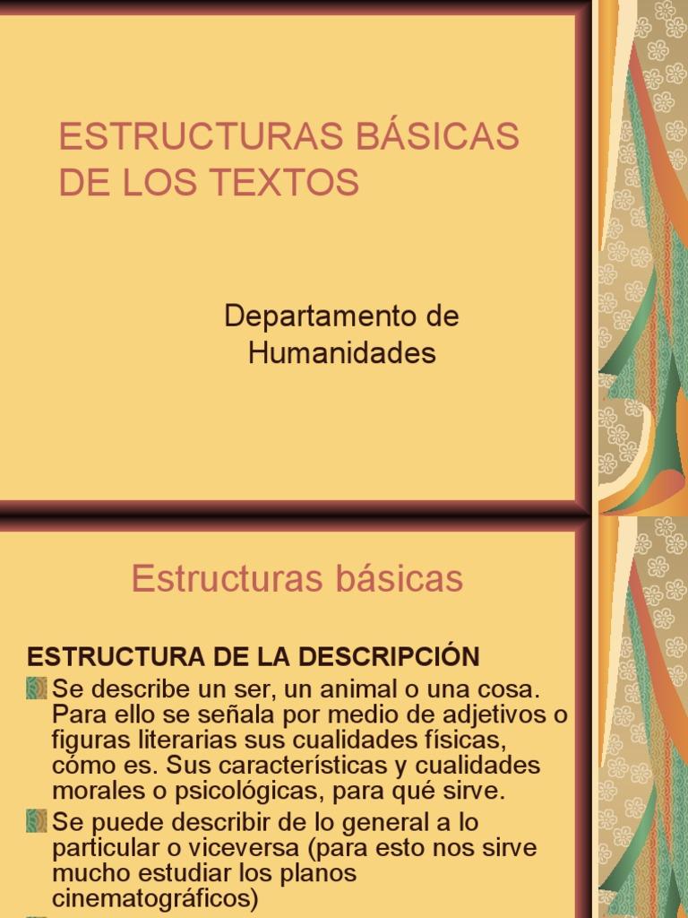 Estructuras Básicas De Los Textos
