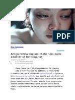 Ana Colombia - Artigo revela que um chefe ruim pode adoecer os funcionários.docx