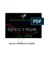 Rules and Regulations Spectrum 2012