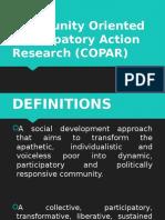 Community Oriented Participatory Action Research (COPAR)