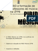 Pibid Música UFPB e formação de professores