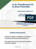 Coef Transf Masa en Areas Conocidas