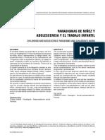 Paradigmas de Niñez y Adolescencia y El Trabajo Infantil.