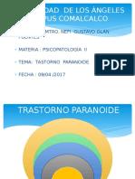 TRASTORNO PARANOIDE