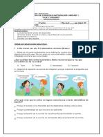 EVALUACION UNIDAD 1 CIENCIAS NATURALES LUZ Y SONIDO 3° BASICO