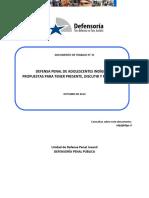 Dcto. de Trabajo 31-2012 Defensa Penal de Adolescentes Indígenas