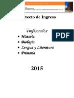 ISFD N°142 Cuadernillo Taller inicial 2015