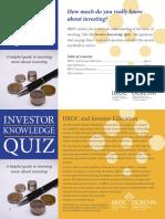 Investor Education Quiz en