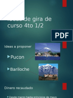 Ideas de Gira de Curso 4to 1
