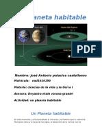 Actividad 1 Ciencias de La Vida y La Tierra Un Planeta Habitable