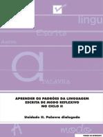Unidade II Aprender Padroes Lingua Escrita Modo Reflexivo Aluno