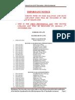 Provisional Graduation List