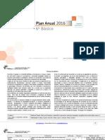 Planificacion Anual Lenguaje 6Basico 2016