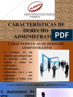 Características de Derecho Administrativo