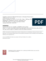 Legislative Control of Political Extremism in European Democracies I