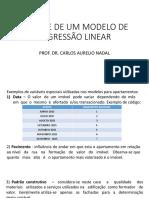 Aula 12- Analise de Um Modelo de Regressão Linear Sisdea