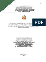 Repercusión de La Ley de Justicia y Paz Ante Los Organismos Internacionales