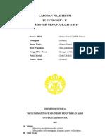Format Laporan Praktikum Elek II