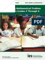 Improving Mathematical Problem Solving