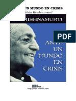 Krishnamurti, Jiddu - Ante un Mundo en Crisis.doc