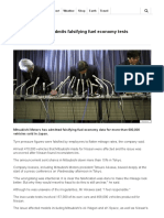 Mitsubishi Motors Admits Falsifying Fuel Economy Tests - BBC News