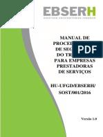 Anexo Resolução 37 - Manual de Procedimentos de Segurança Do Trabalho Para Empresas Prestadoras de Serviços