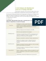Implementación Del Sistema de Gestión de Seguridad y Salud en El Trabajo SG