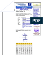 Structural A36 Steel Wide Flange I Beam Section Properties Table Sizes W14 to W25 -Engineers Edge