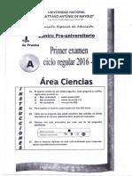 Cpu Primer Examen Ciclo Regular 2016 - i
