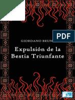 Giordano Bruno - Expulsion de La Bestia Triunfante