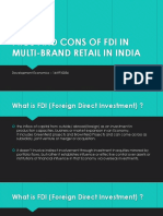 Pros and Cons of FDI in Multi-brand Retail